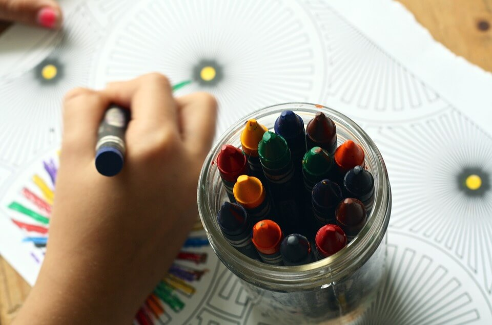 Daycare in Ottawa is made more fun and beneficial for kids with colouring books.