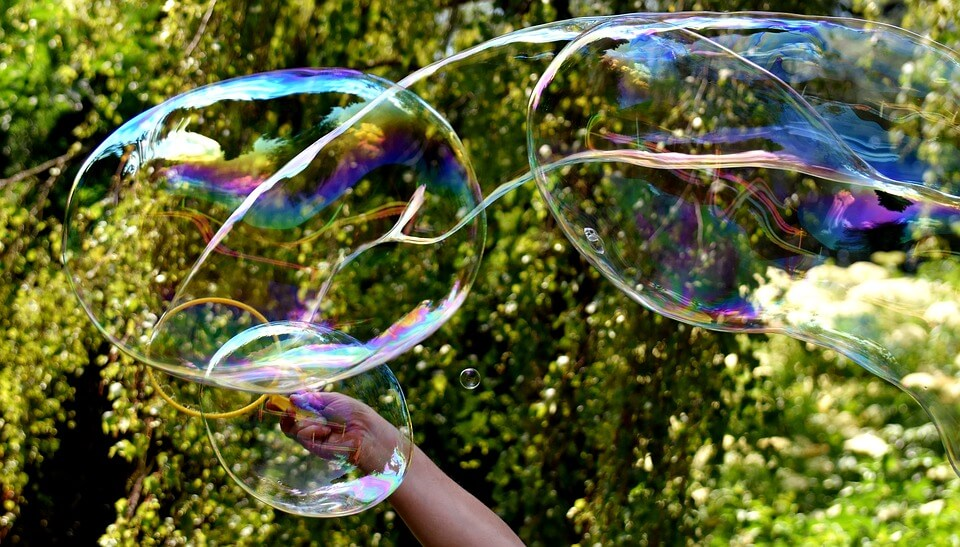 Indoor and outdoor activities, like mega bubbles, at a daycare in Stittsville will keep kids engaged and having fun this summer.