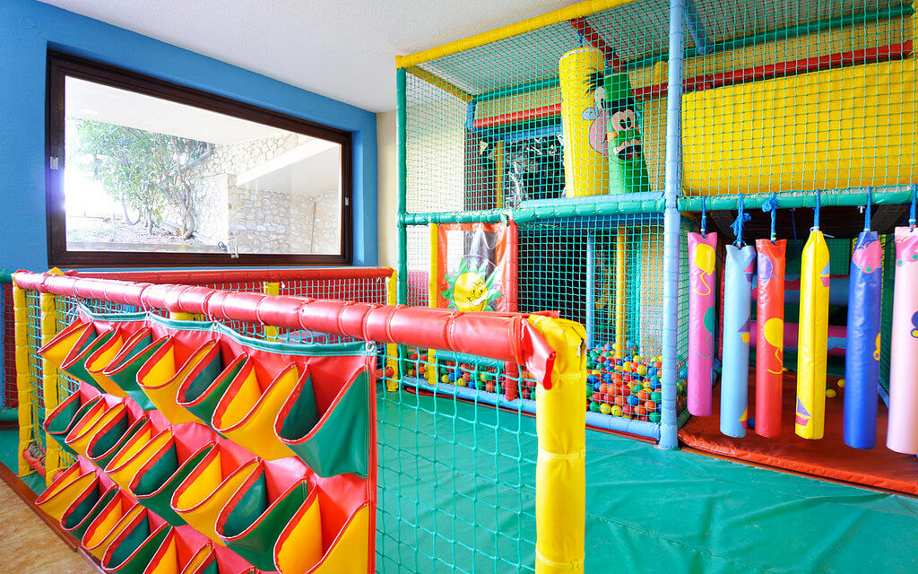 An indoor playground is always open for fun, no matter the season or time of year.